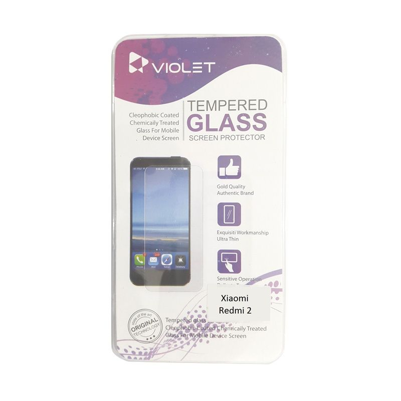 Violet Tempered Glass Screen Protector for Xiaomi Redmi 2