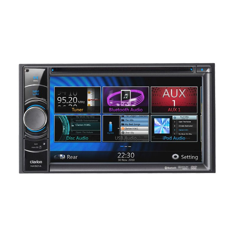Jual Clarion NX 501A Head Unit Double Din GPS Bluetooth