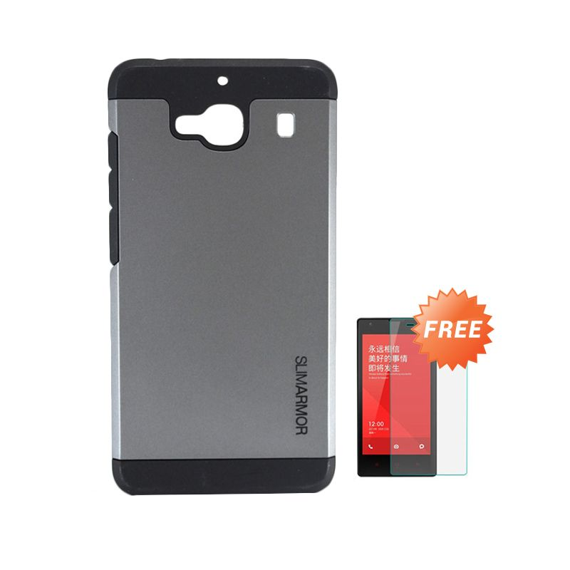 Sunrise Slim Armor SGP Grey Hardcase Casing for Xiaomi Redmi 2S + Screen Protector