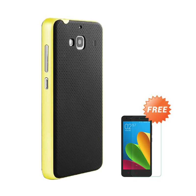 Sunrise Neohybrid Yellow Casing for Redmi 2S + Tempered Glass Screen Protector
