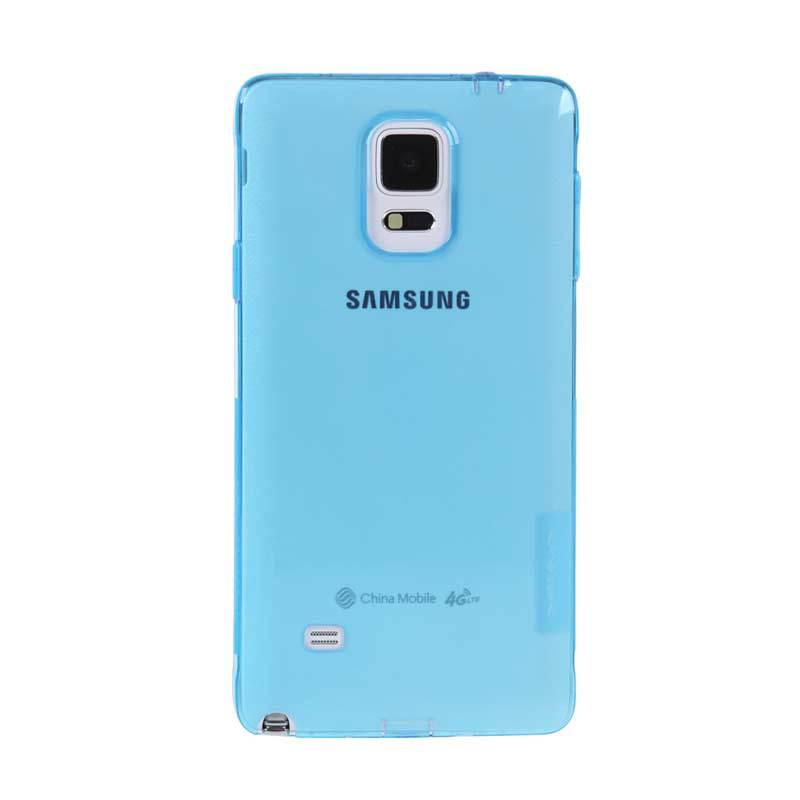 Nillkin Nature TPU Blue Transparan Soft Casing for Samsung Galaxy Note 4