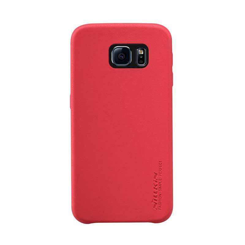 Nillkin Victoria Leather G920F Merah Casing for Galaxy S6