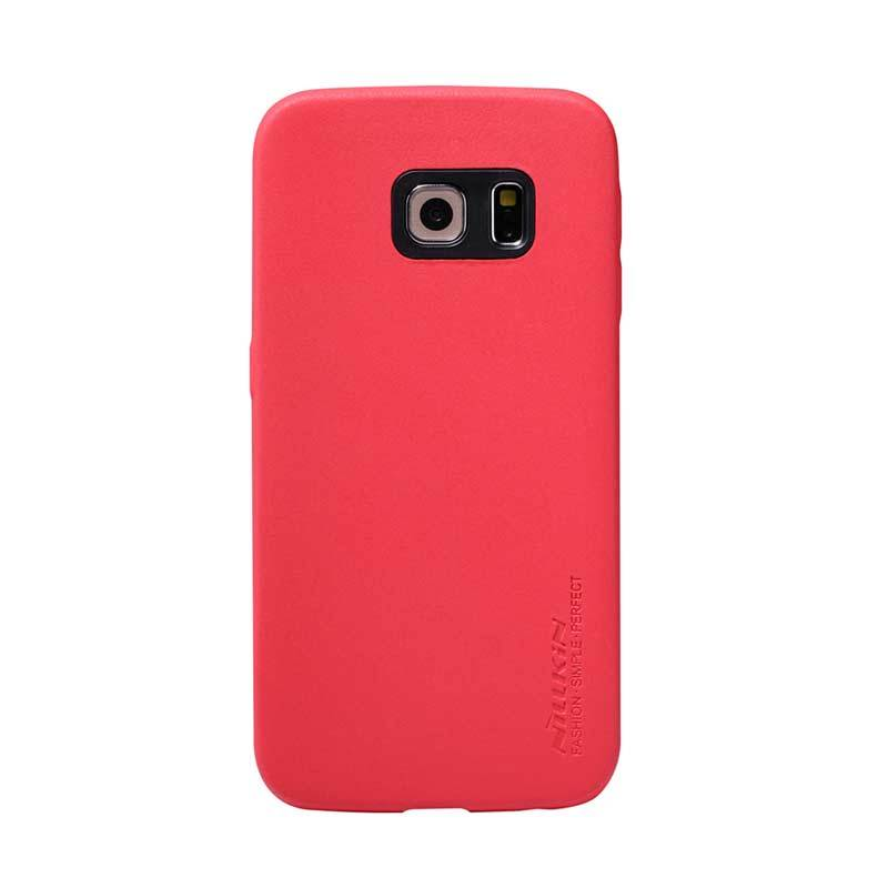 Nillkin Victoria Leather Merah Casing for Galaxy S6 Edge
