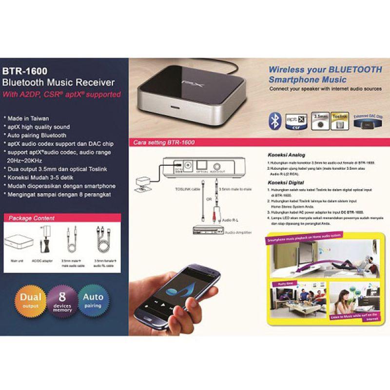 Jual PX BTR-1600 Hitam Bluetooth Music Receiver Online - Harga & Kualitas Terjamin | Blibli.com