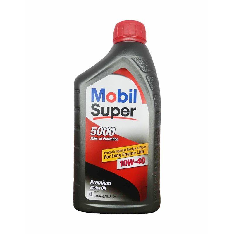 Mobil Super 5000 Pelumas Mobil Premium 946 ml (10W40)