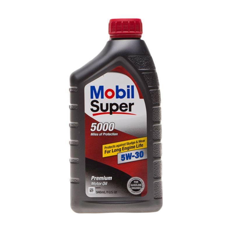 Mobil Super 5000 SAE 5W/30 Oli Pelumas [946 mL]