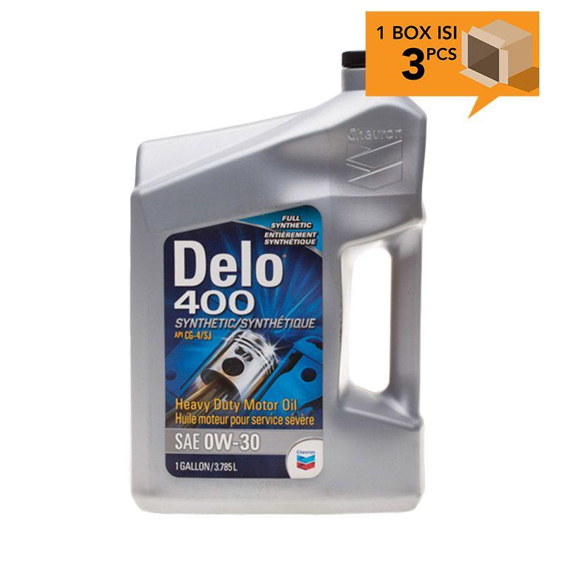 Paket Karton - Chevron Dello 400 SAE 0W-30 Oli Pelumas [3 Pcs/4 L]