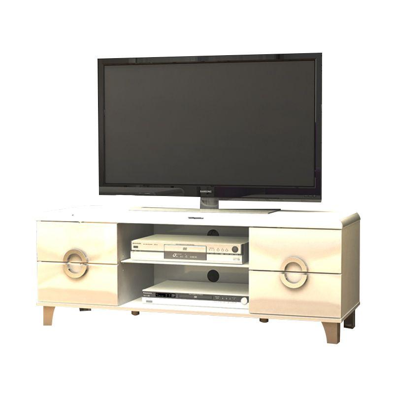 Melody Oriye Stand Glossy White Meja TV