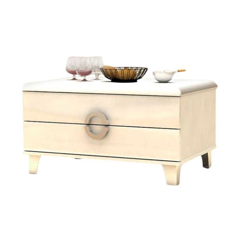MELODY Oriye White Glossy Coffee Table