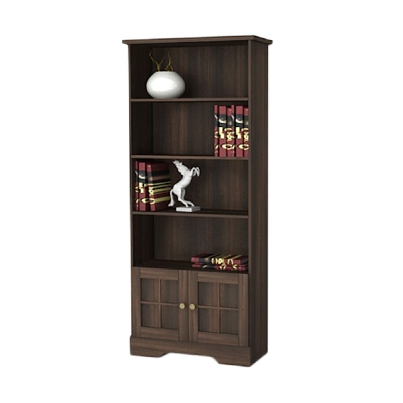 MELODY Regent Walnut Bookcase