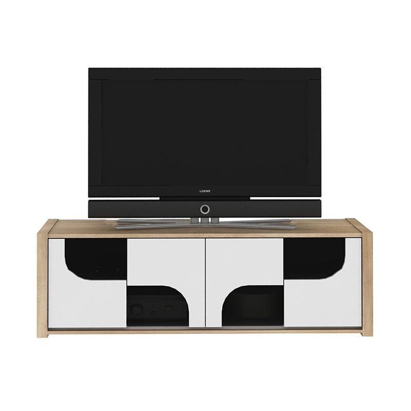 harga Melody Sonia Stand WG Sonoma Oak Meja TV Blibli.com