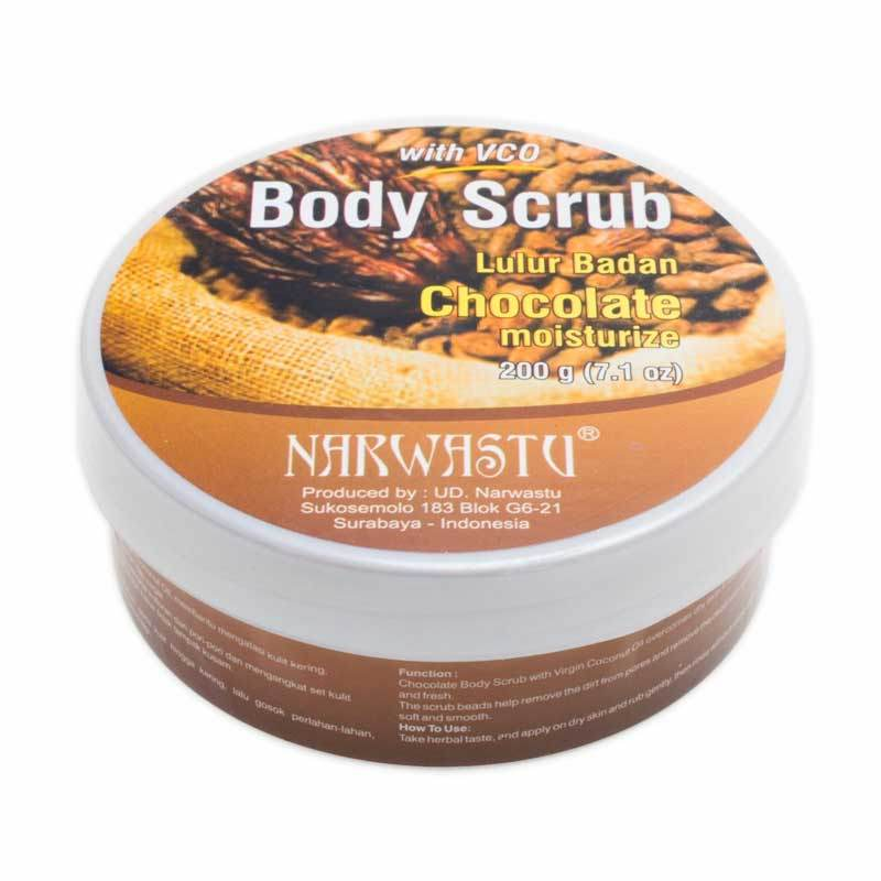 Narwastu Body Scrub Chocolate 200 gr