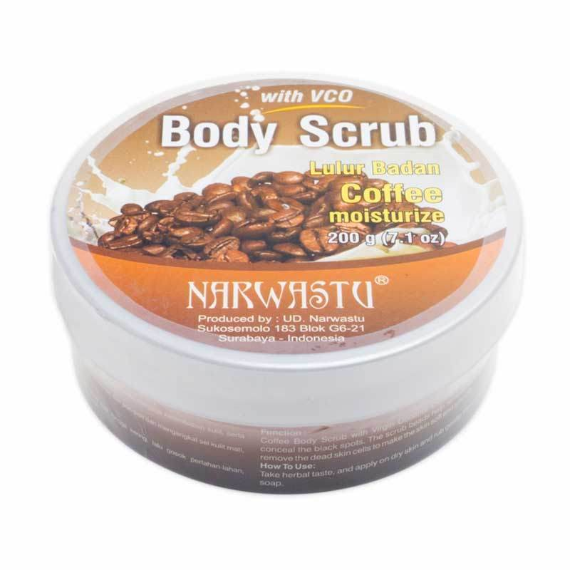 Narwastu Body Scrub Coffee 200 gr