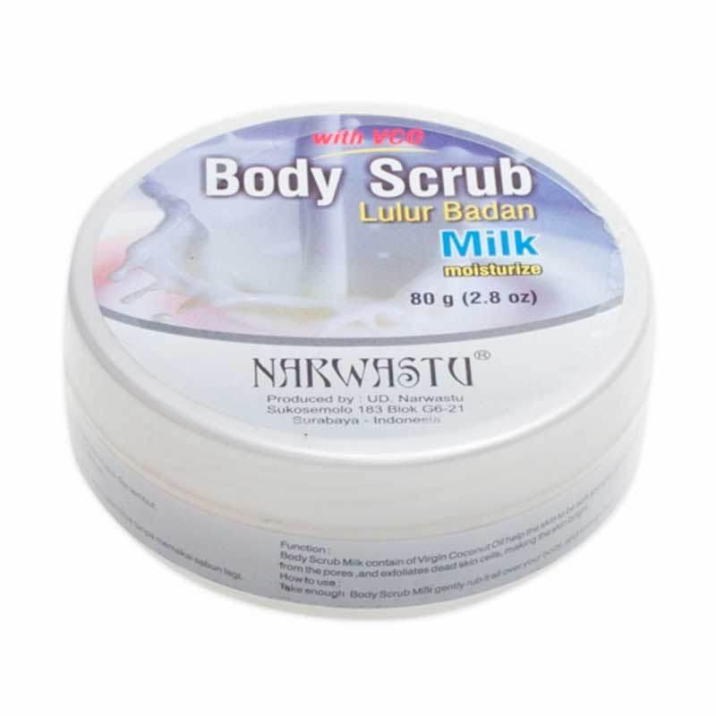 Narwastu Body Scrub Milk 80 gr