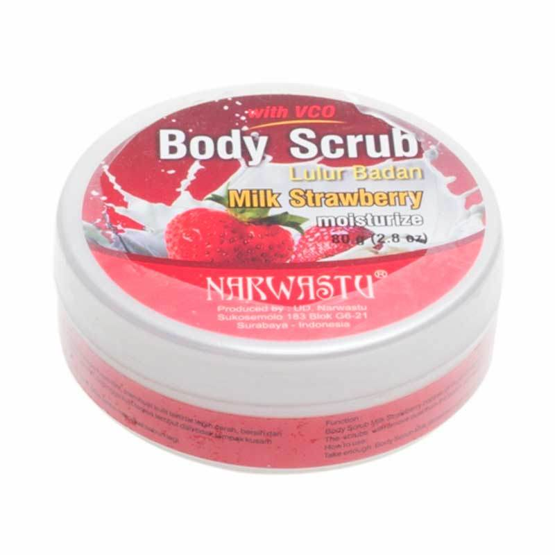 Narwastu Body Scrub Milk Strawberry 80 gr