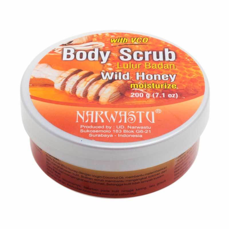 Narwastu Body Scrub Wild Honey 200 gr