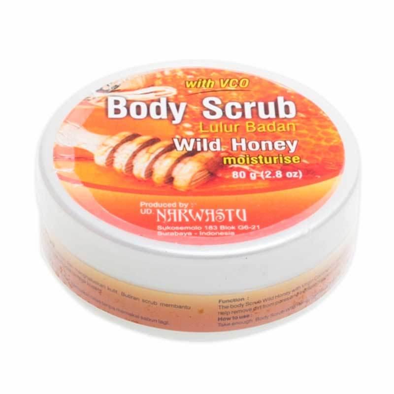 Narwastu Body Scrub Wild Honey 80 gr