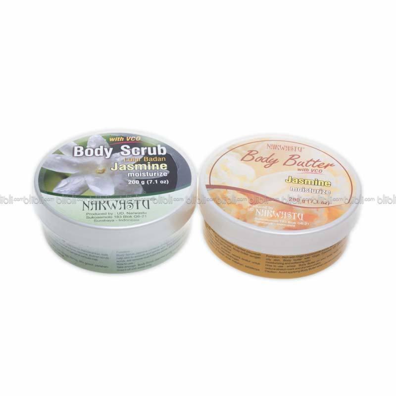 Narwastu Paket Body Butter 200 gr & Body Scrub Jasmine 200 gr