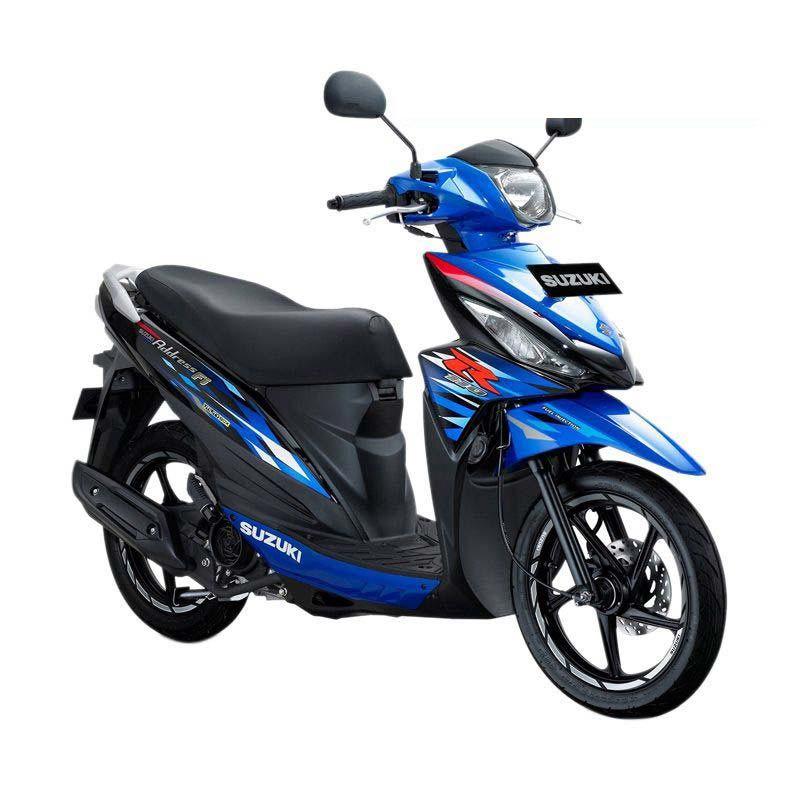 Suzuki Address Fi 110 NEC Medium Blue Titan Black Sepeda Motor [OTR Bandung]