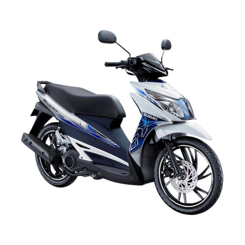 Suzuki Hayate 125 Brilliant White Staller Blue Sepeda Motor [OTR Bandung]