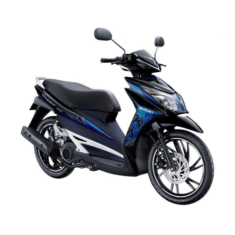 Suzuki Hayate 125 Titan Black Staller Blue Sepeda Motor [OTR Bandung]