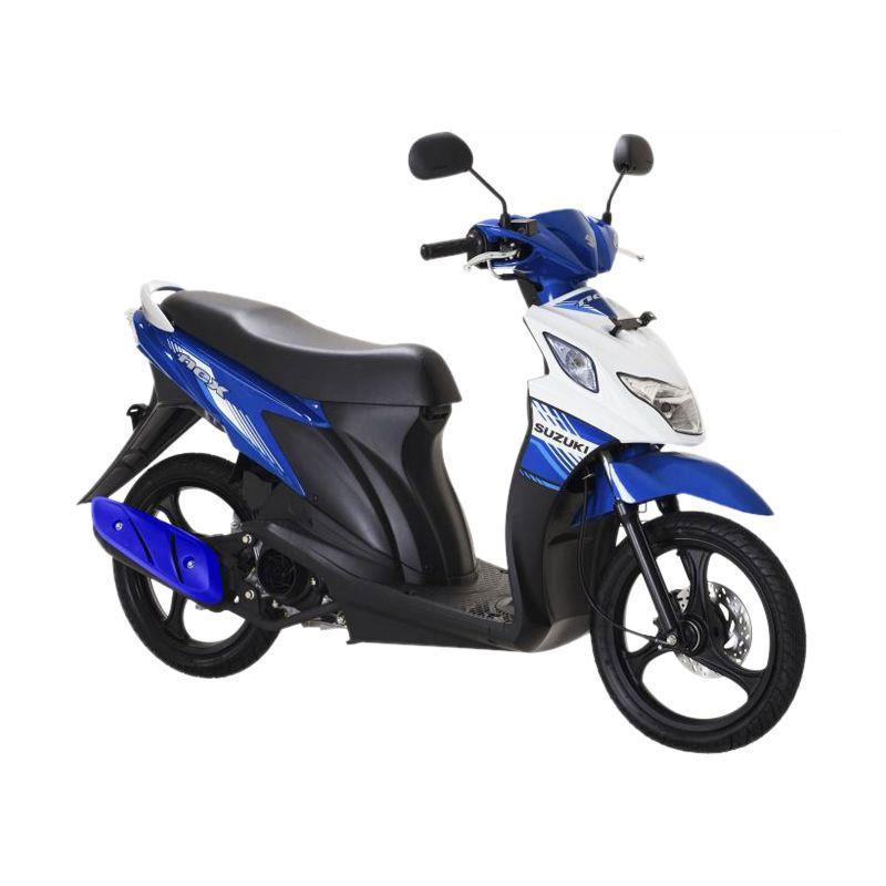 Suzuki Nex Super FI Met. Medium Blue-Brilliant White Sepeda Motor [OTR Medan]