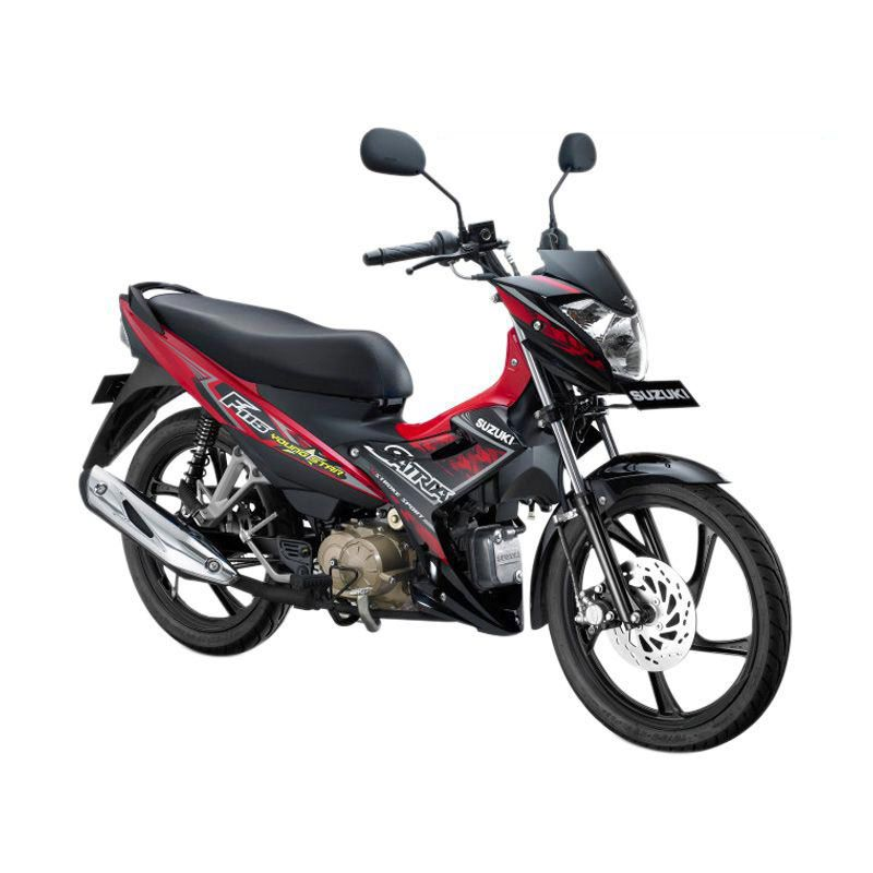 Suzuki Satria F115 Young Star Titan Black-Celebration Red Sepeda Motor [OTR Medan]
