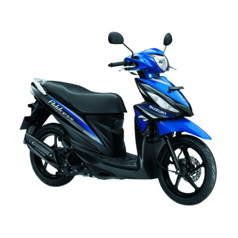 Suzuki Address Metalic Medium Blue Sepeda Motor OTR Bogor