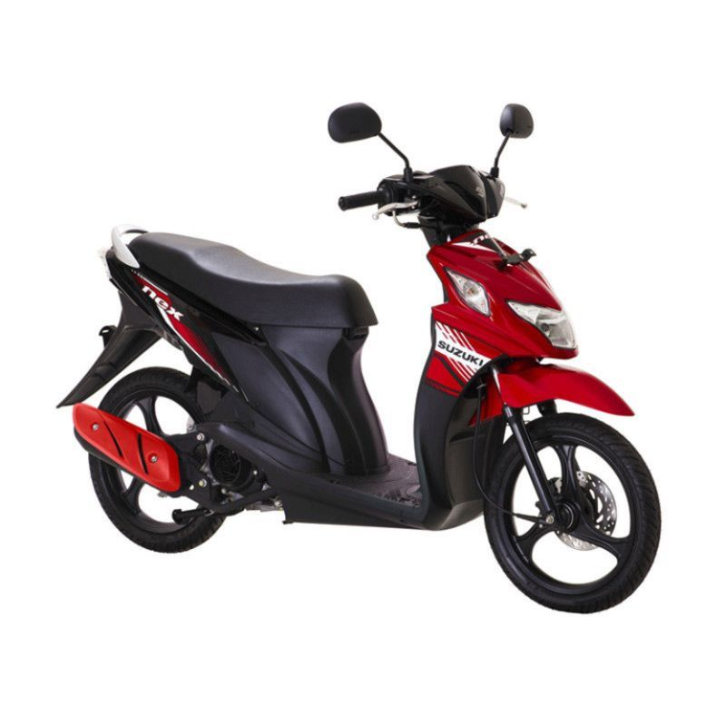Suzuki NEX F1 Celebration Red Titan Black Sepeda Motor OTR Jadetabek