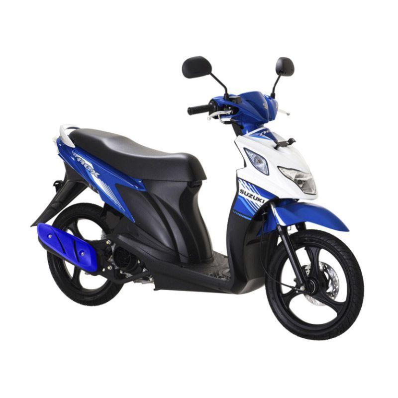 Suzuki NEX F1 MET.Medium Blue Brilliant White Sepeda Motor OTR Jadetabek