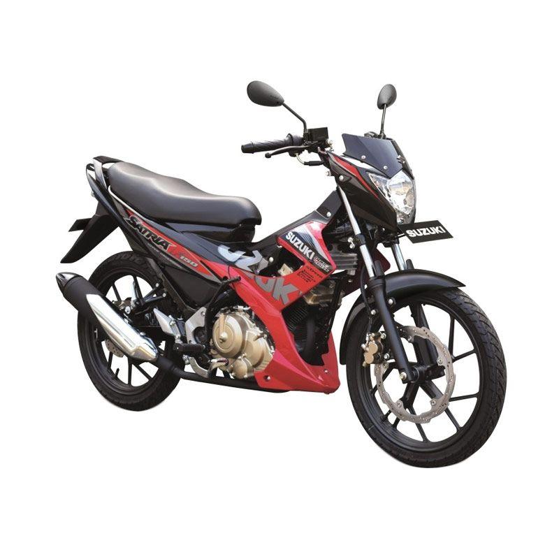 Suzuki Satria F 150 R Celebration Red-Titan Black Sepeda Motor [OTR Surabaya]