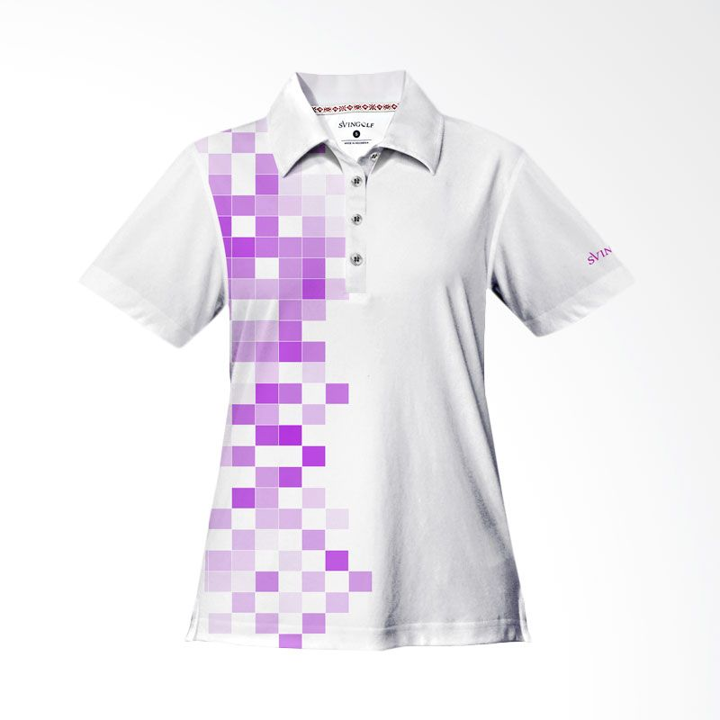 Svingolf 8 Bit Polo White Baju Golf Wanita