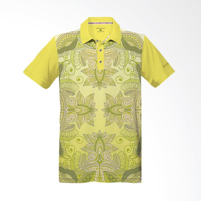 Svingolf Batik Lotus Lemon Polo Shirt Baju Golf