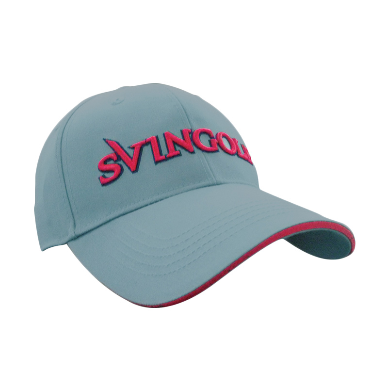Svingolf Corp Cap Topi Golf - Dark Grey/Red