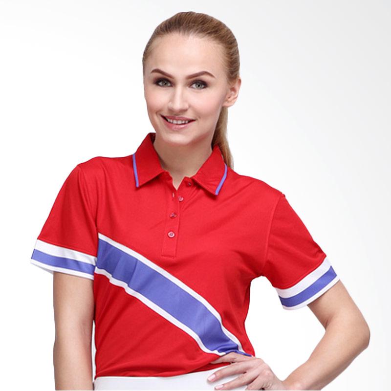 Svingolf Edd Polo Baju Golf - Flag Red Violet