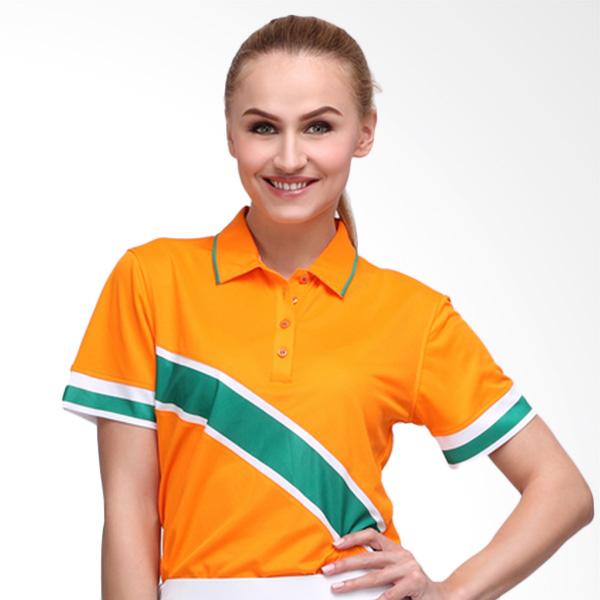 Svingolf Edd Polo Baju Golf - Mandarin Orange Tree Green