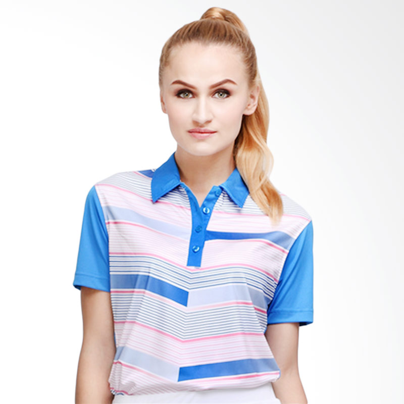 Svingolf Flying V Polo Baju Golf - Dusk Blue
