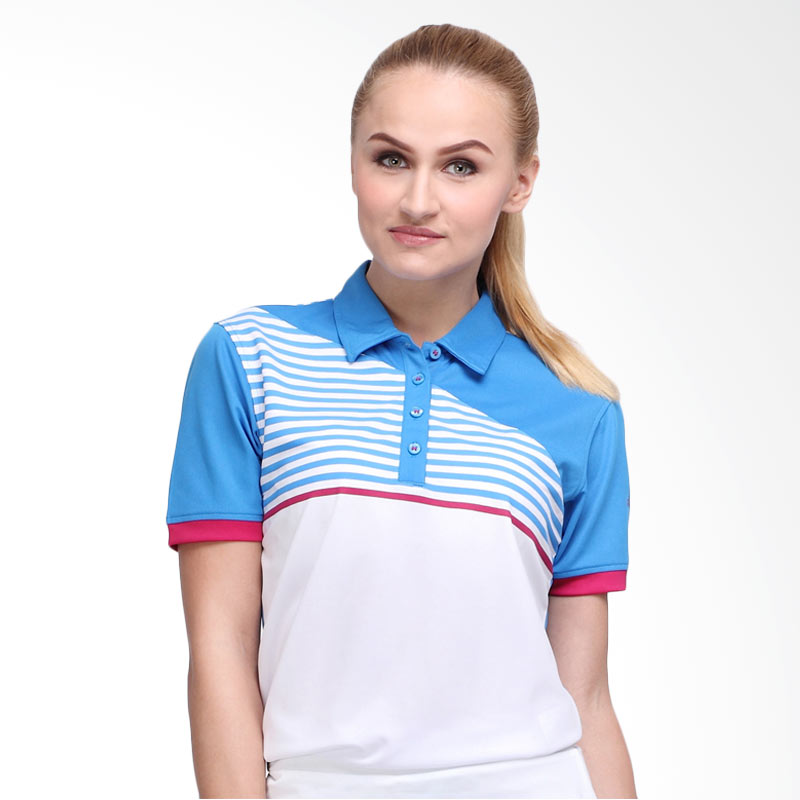 Svingolf Forged Polo Baju Golf - Dusk Blue Dusk Pink