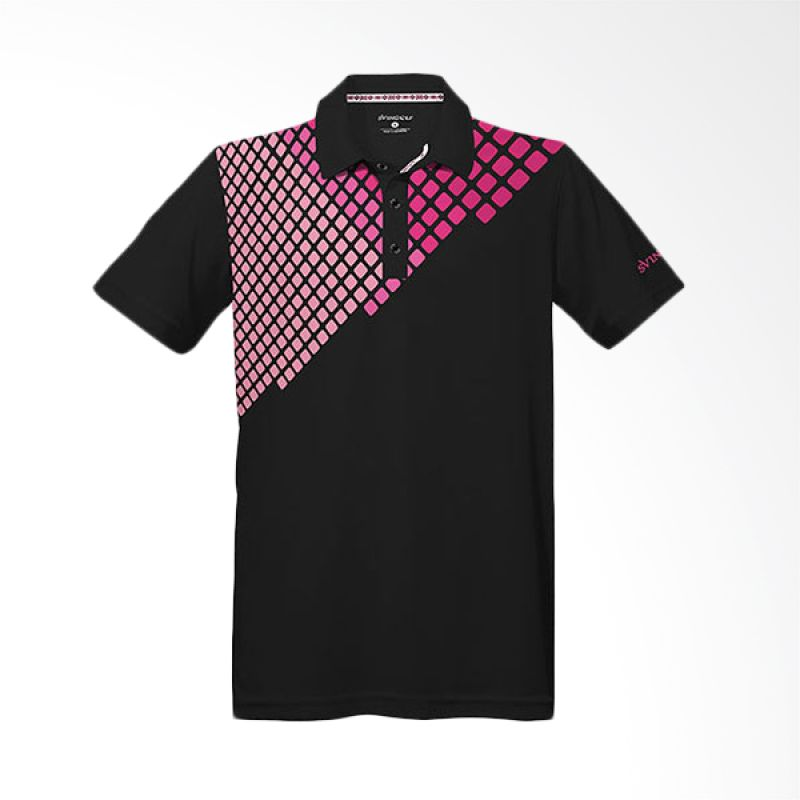 Svingolf Pixel Polo Grey Kevlar Baju Golf