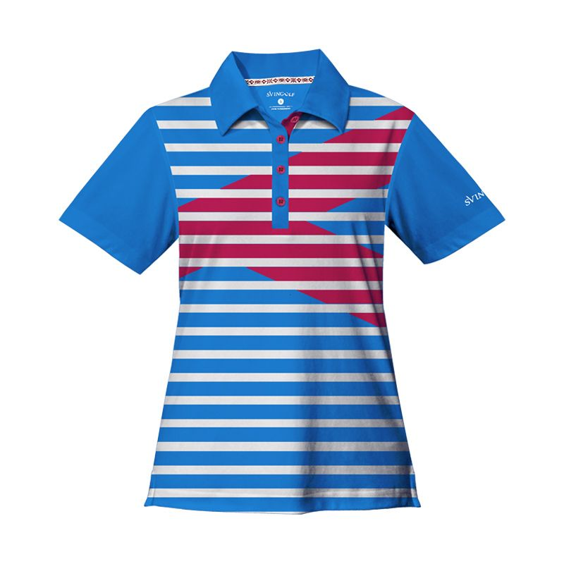 Svingolf Royale Polo Aqua Blue Baju Golf wanita