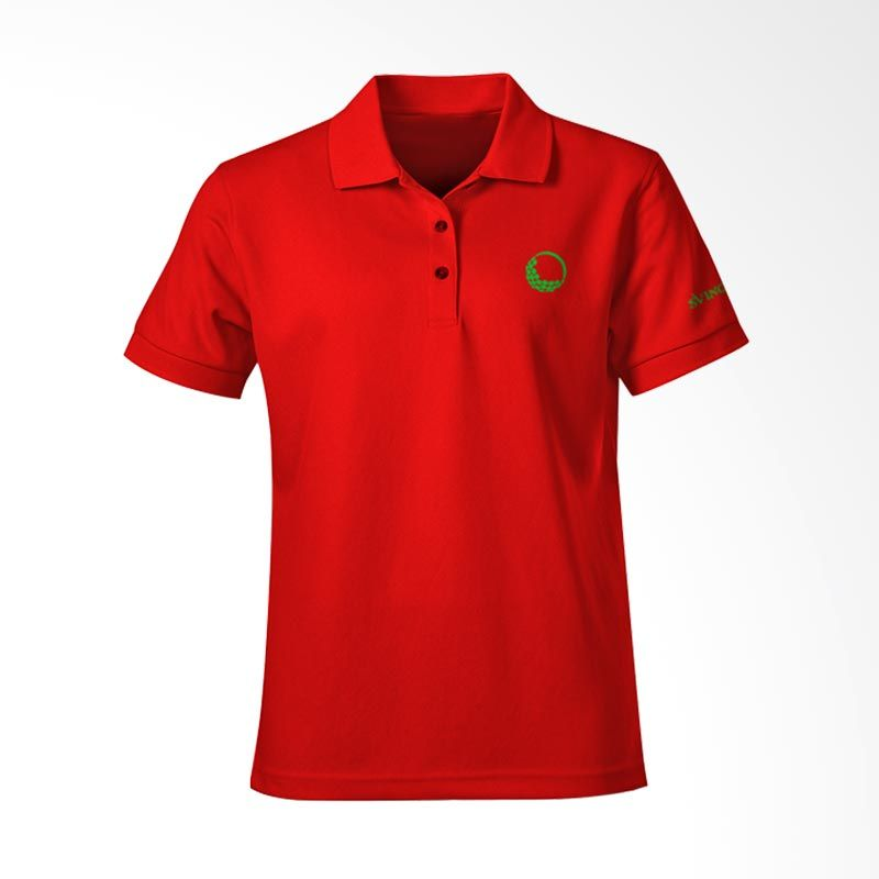 Svingolf Solid Pique Polo Red Baju Golf (S) (Red)