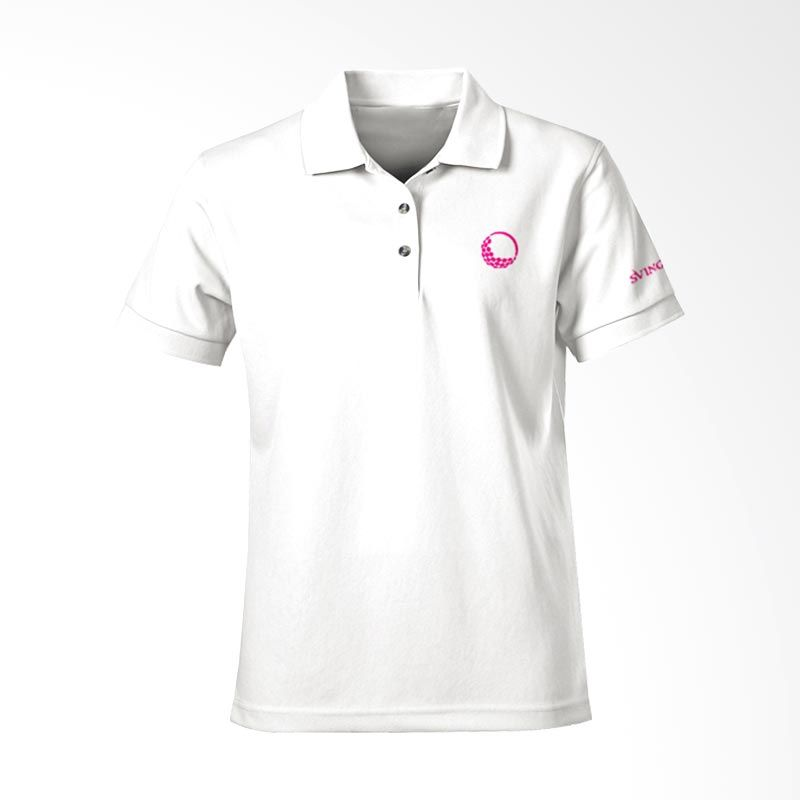 Svingolf Solid Pique Polo White Baju Golf (S) (White)
