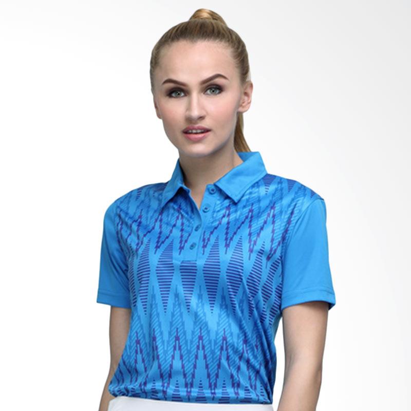 Svingolf Tenun Polo Baju Golf - Dusk Blue Ash