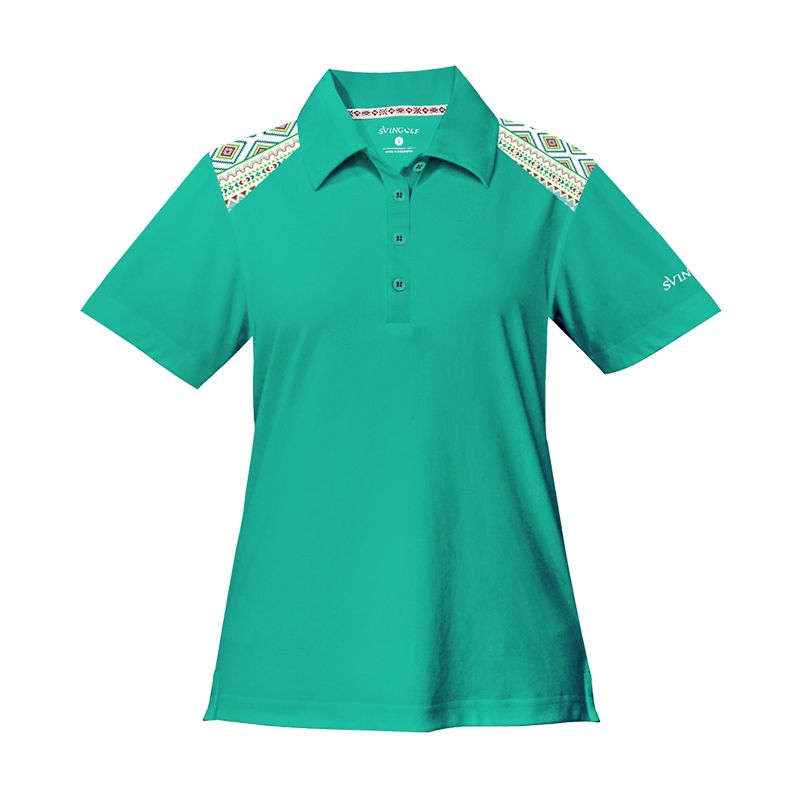 Svingolf Tribal Polo Green Mint Baju Golf Wanita