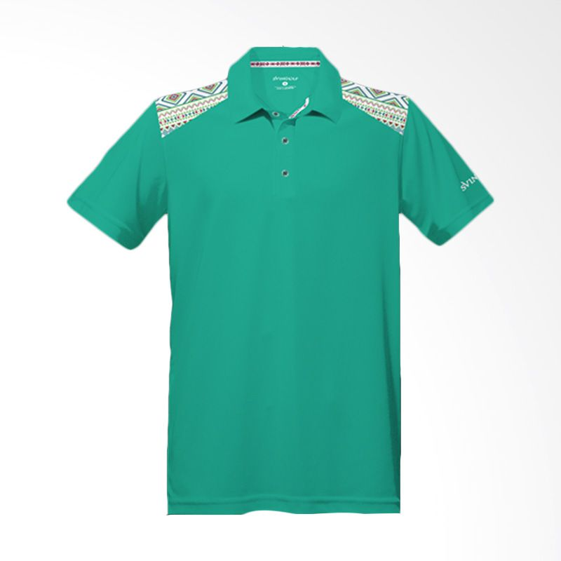 Svingolf Tribal Polo Green Mint Baju Golf