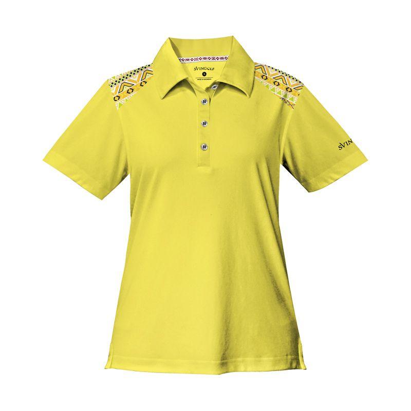 Svingolf Tribal Polo Lemon Baju Golf Wanita