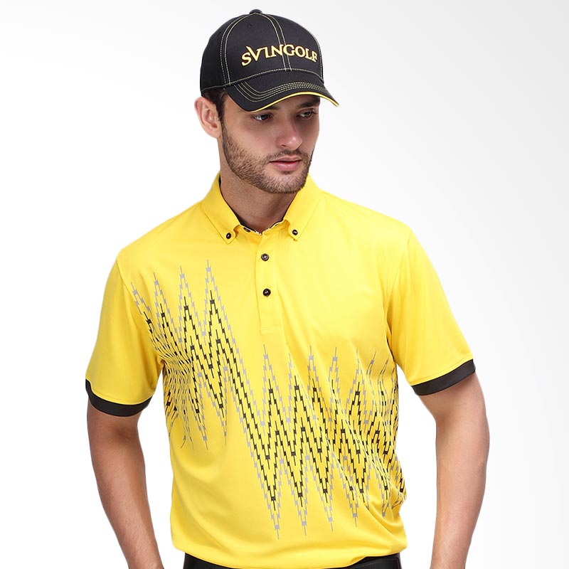 Svingolf Zap Baju Golf - Yellow Sunshine/Black