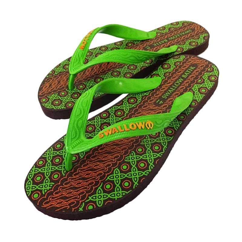 Swallow Batik Neon Sandal - Green