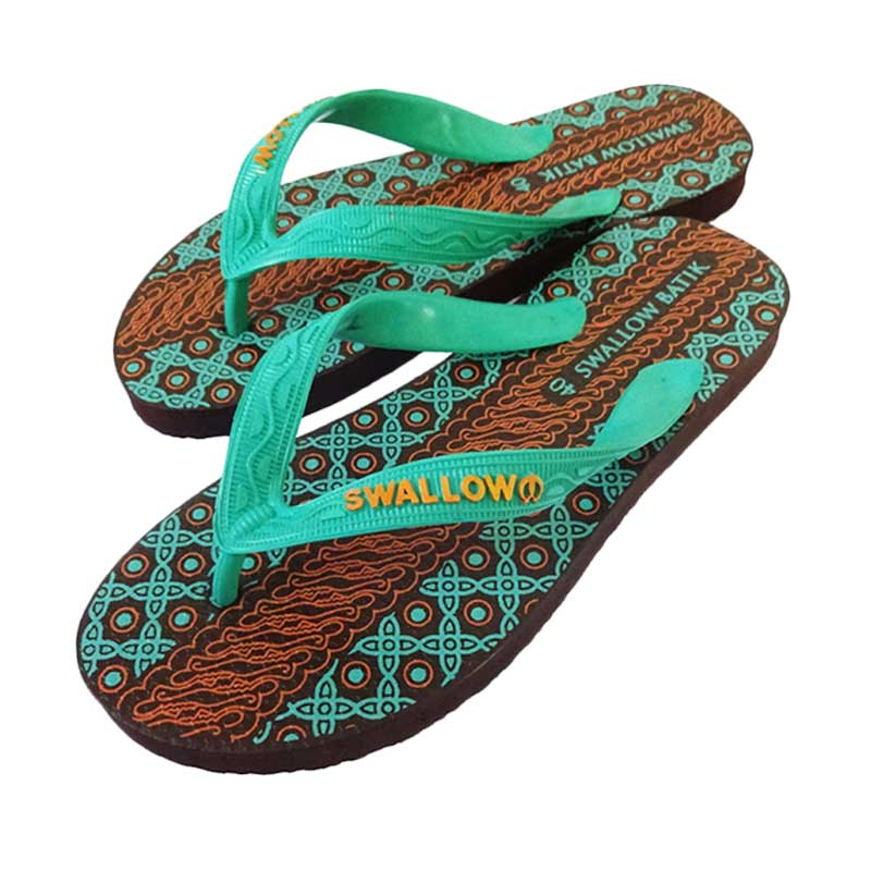 Swallow Batik Turkey Sandal - Green