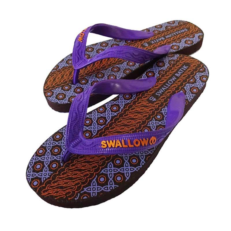 Swallow Slipper Batik Sandal Jepit - Purple